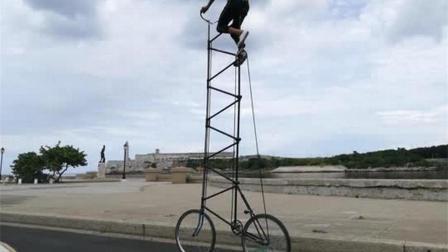 世界上最高的自行车, 超过4米, 网友: 怎么坐上去?