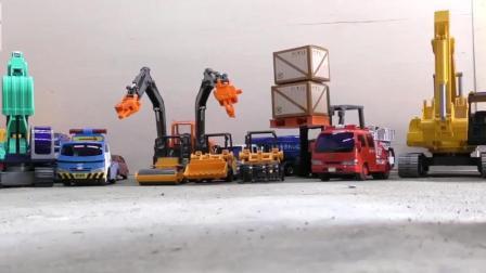 卡车玩挖掘机混凝土搅拌机回收车自卸车玩具