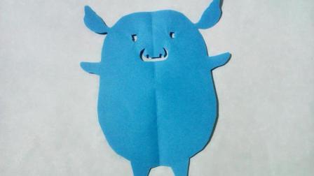 剪纸小课堂可爱小猪, 儿童喜欢的手工DIY剪纸, 动手又动脑