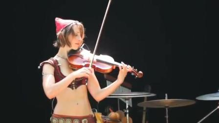 国外美女用小提琴演奏《最后的莫西干人》, 真好听