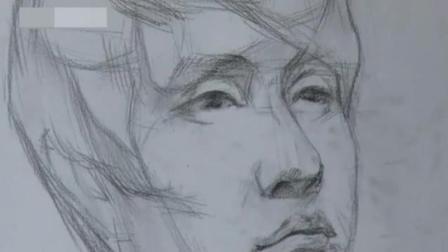 简易人脸画法素描 漫画素描教程 建筑速写入门图片