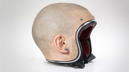 奇葩光头头盔, 带上秒变光头, 网友: 晚上反光吗?