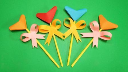 哄宝宝神器棒棒糖, 最简单的手工视频折纸, 幼儿园小朋友抢着做