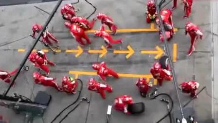 F1赛车换轮胎速度有多快? 不要眨眼仔细看, 真的没有快进