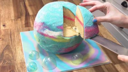 最火的梦幻星空蛋糕、数字蛋糕一次性全学会, 制作过程超舒服