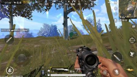 专业狙击手玩吃鸡游戏, 一个盲狙, 意外发生了「刺激战场」