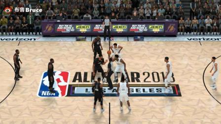 NBA2K18全明星赛!詹姆斯队vs库里队!詹姆斯摘全明星赛MVP!