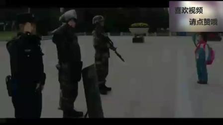 小女孩向军人民警敬礼, 一张看似平常的照片为何感动无数人