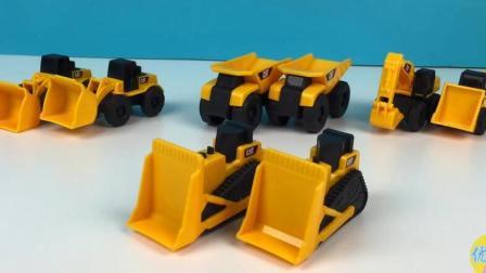 小小工程师 儿童玩具工程车介绍 挖掘机 工程车表演视频