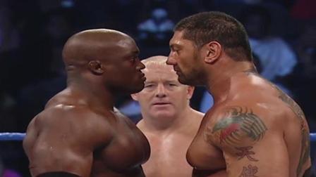 WWE野兽巴蒂大战力王, 欧洲巨星突然出现将他们两个暴揍!