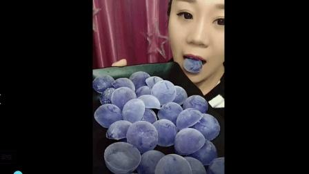 美食小吃货;蓝莓冰块, 越吃越上瘾