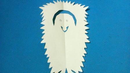 剪纸小课堂萌萌的狮子狗, 儿童喜欢的手工DIY剪纸, 动手又动脑