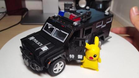 东知聊车【516】合金回力玩具车之特警装甲车
