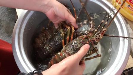 湛江农村年夜饭, 大龙虾做法各显妙招, 这个做法你肯定没想到