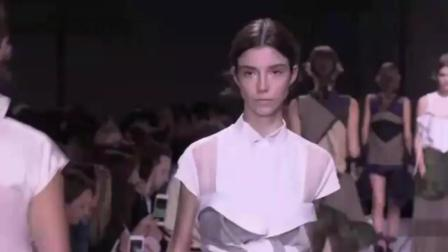 巴黎时装周Sacai 2018春夏新款名模女装系列时装秀时装发布会
