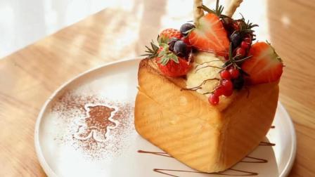 喜欢在冬天吃冰淇淋吗? 那就教你做蜂蜜莓果厚多士, 超级好吃