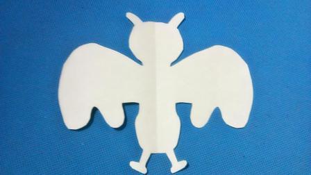 剪纸小课堂蝙蝠, 儿童喜欢的手工DIY剪纸, 动手又动脑