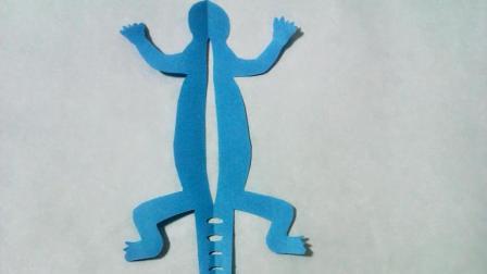 剪纸小课堂鳄鱼, 儿童喜欢的手工DIY剪纸, 动手又动脑