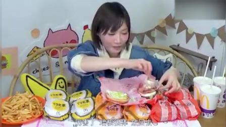 大胃王吃汉堡薯条和奶昔, 一次吃下15个汉堡啥感觉