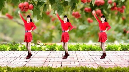 河北青青广场舞《又见山里红》48步水兵舞