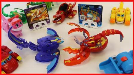 北美玩具 第一季 爆兽猎人玩具之神奇魔鱼和巨螯龙虾变形玩具