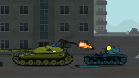 坦克世界搞笑动漫: 唯一一辆能使用机枪的坦克! 毛子就是护短!