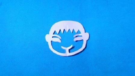 剪纸小课堂男孩头像, 儿童喜欢的手工DIY剪纸, 动手又动脑