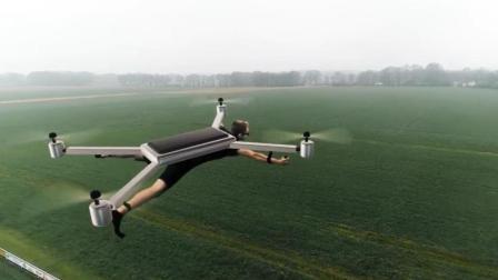 穿戴式无人机来了, 趴着飞行, 还是太阳能的, 你敢飞吗