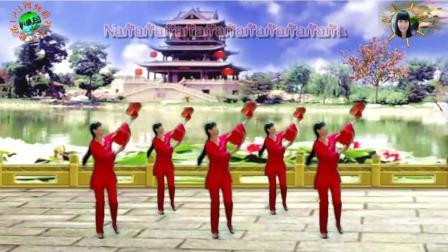 阳光美梅广场舞《一起红红火火》2视频制作: 永不疲倦