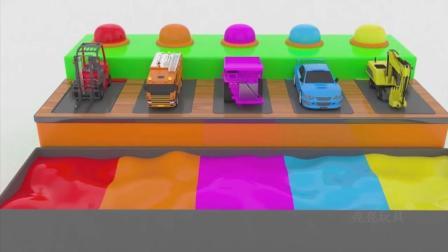 亮亮玩具学习颜色, 汽车挖掘机动画学英语, 婴幼儿宝宝教育游戏视频801