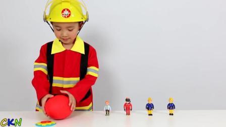 小消防员砸开了红色的神奇彩蛋!