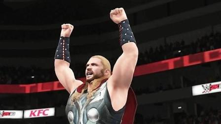 罗曼 VS 雷神! WWE2K18单挑