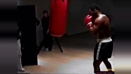 泰森罕见训练视频, 这一拳打到普通人身上不死也残