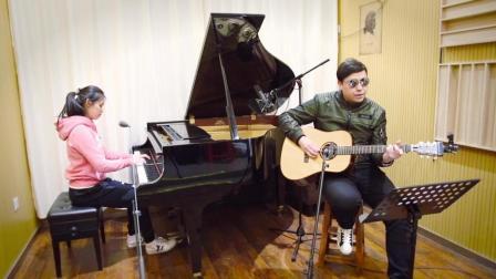 十六岁高中生瑶瑶钢琴弹唱 Coldplay-Yellow