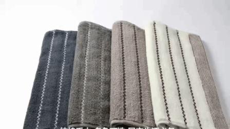 洗脸家用柔软吸汗吸水全棉深色条纹