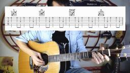 【第九课后】吉他弹唱入门 C调版《童年》扫弦示范曲+讲解教学
