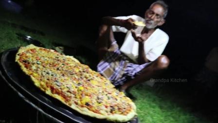 印度大叔做印式披萨