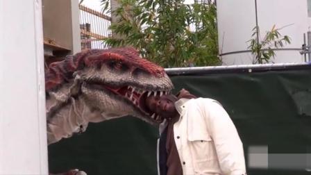 整人恶搞: 恐龙出其不意吓路人, 什么仇什么怨