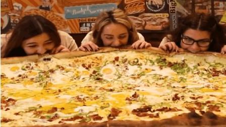 吃货福利! 美国超大芝士披萨船, 分量足到30个人吃不完