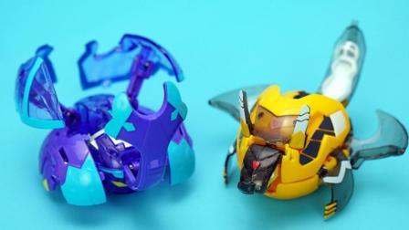 玩具大联萌 爆兽猎人玩具拆装 水晶独角仙VS爆铠甲龙