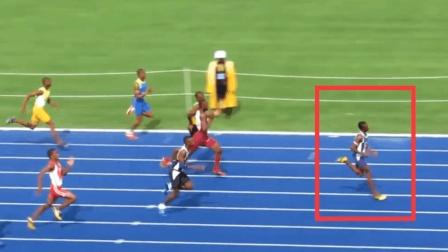 未来的博尔特! 只有13岁百米跑出10秒85夺冠并且还破纪录了!