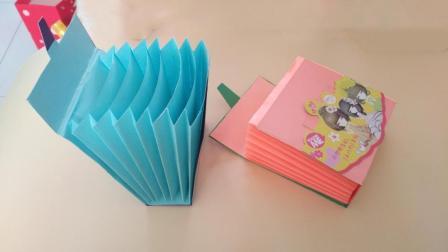 用纸折出来的多层文具盒, 简单易学容量大, 我的文具盒我自己diy