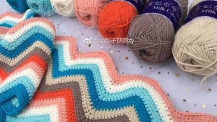 糖糖手作  (d第75集)钩针编织毯子 千层糕毛线毯子视频教程