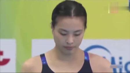 中国跳水队逆天一跳, 惊呆全场裁判, 直接给出创记录的7个10分