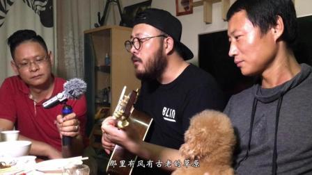 大胡子船长刘锦泽家中饭后-乌兰巴托的夜