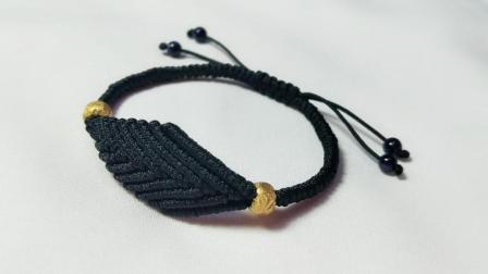 手工编绳教程: 时尚的叶子手链, 编法非常简单, 一片叶子一片心意