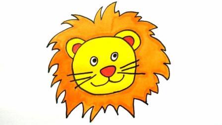 宝宝爱画画第130课 如何画狮子简笔画, 小狮子儿童卡通画图片, 第一次知道狮子是这样画的