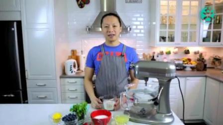 自制千层蛋糕的做法 海绵蛋糕的做法视频 蛋糕上水果摆法和切法