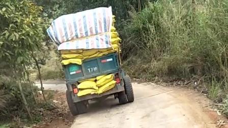 老司机们看过来, 猜猜这台卡车拉了多少吨?