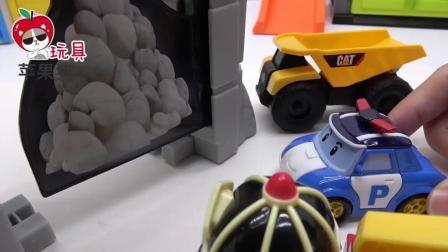 警车珀利消防车罗伊玩泥沙 汪汪队灰灰 小企鹅波鲁鲁挖掘机 儿童玩具故事